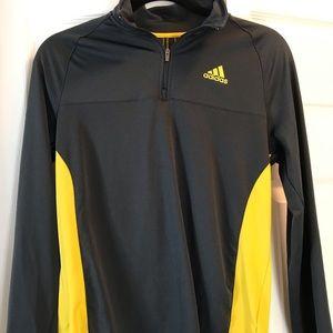 Boys adidas gray/yellow pullover